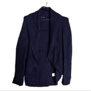 Made in Italy Wool Blend Chunky Indigo Cardigan